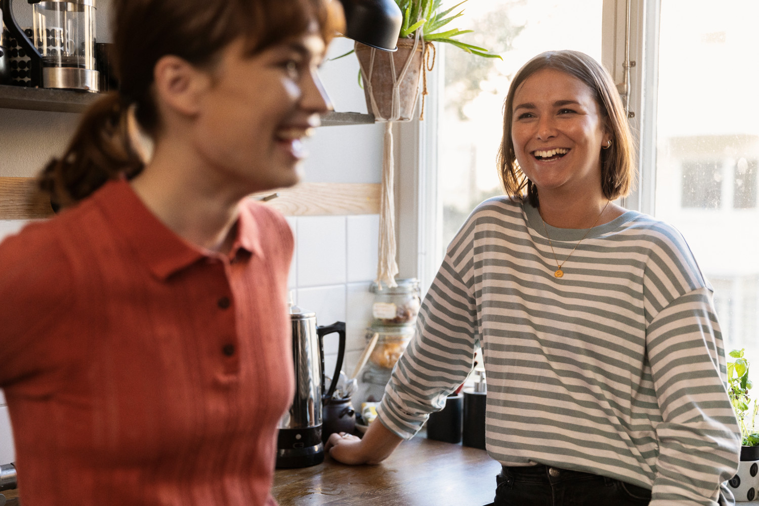 An image of a couple laughing